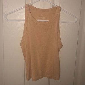 American eagle yellow striped ribbed tank